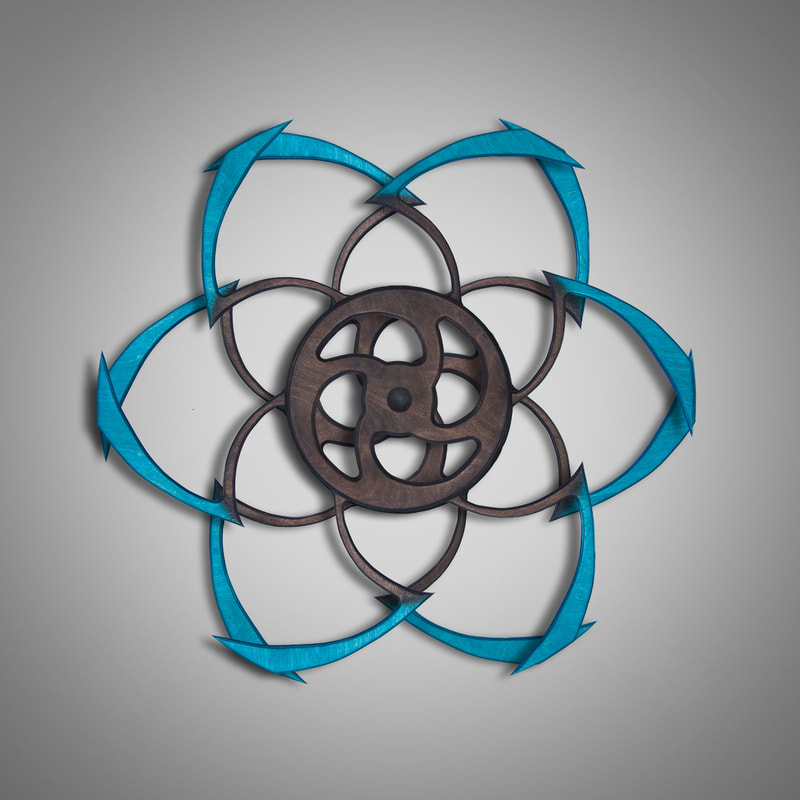 Kinetic Sculpture, Fleur Outer Turquoise