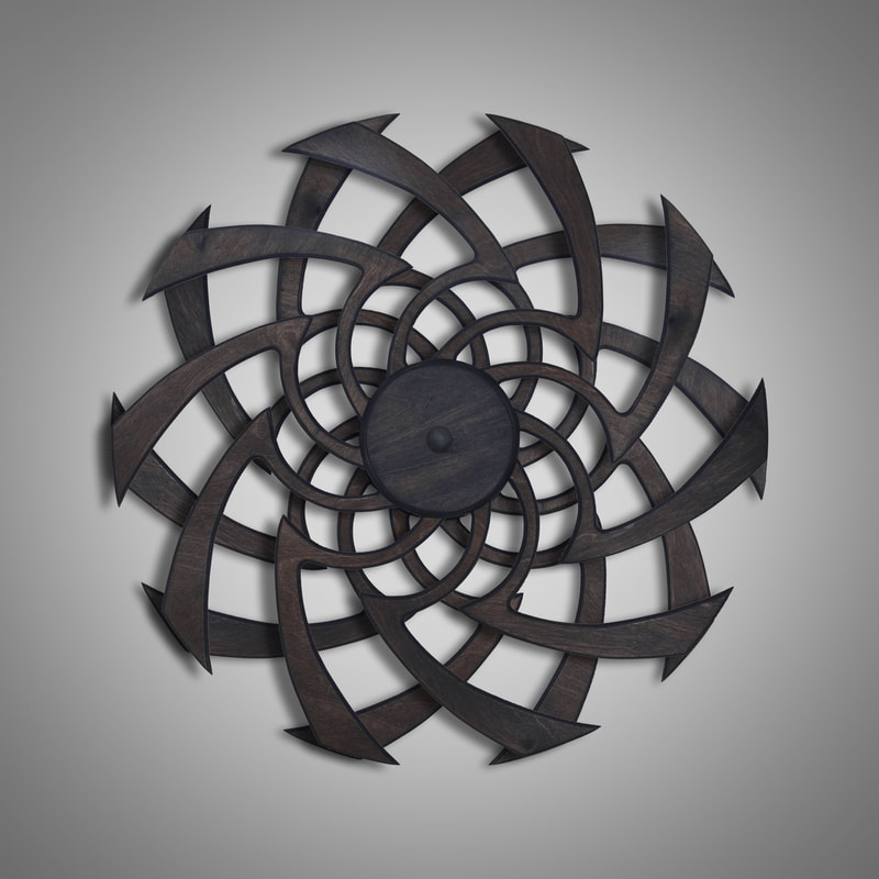 Kinetic Sculpture Flow Outer Rust by Ryan Kvande