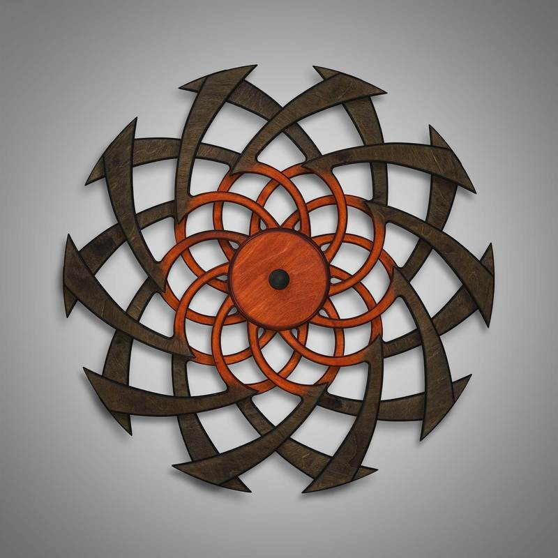 Kinetic Sculpture Flow Inner Rust by Ryan Kvande
