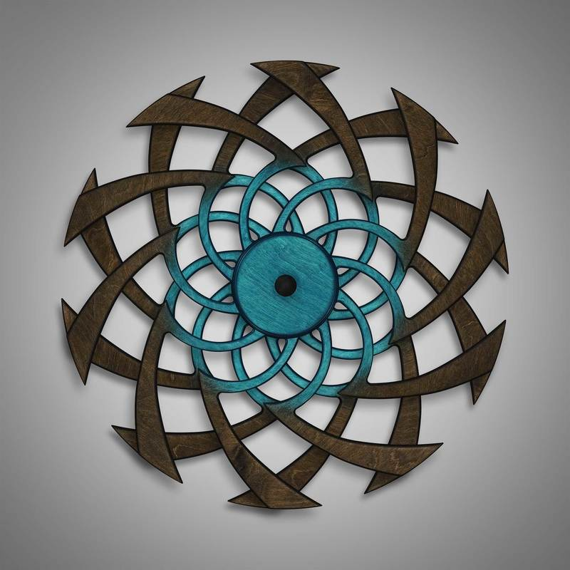Kinetic Sculpture Flow Inner Turquoise by Ryan Kvande