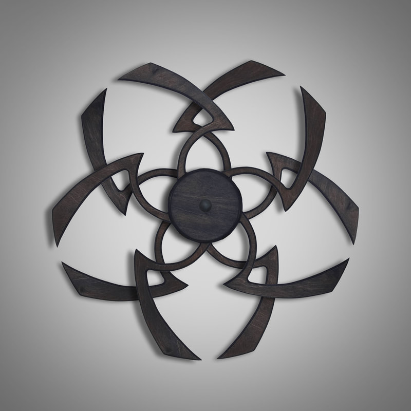 Kinetic Sculpture Flower Dark Brown by Ryan Kvande