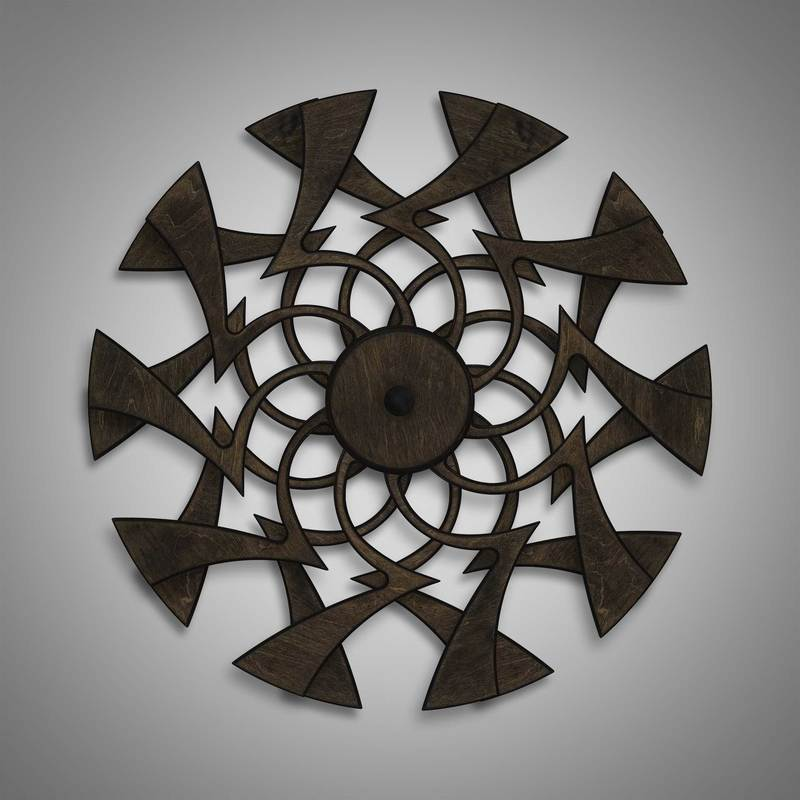 Kinetic Sculpture Flux Dark Brown by Ryan Kvande