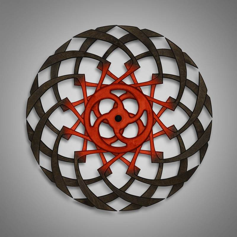 Kinetic Sculpture Razzle Inner red by Ryan Kvande