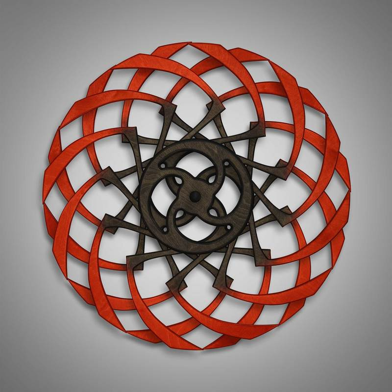 Kinetic Sculpture Razzle Outer Red by Ryan Kvande