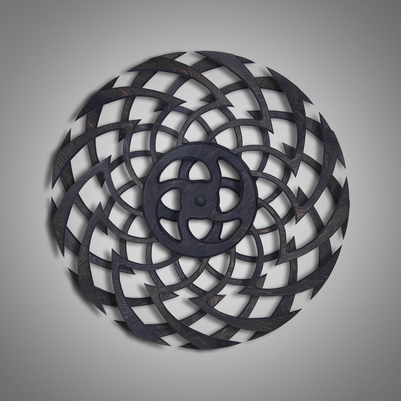 Kinetic Sculpture Ripple Dark Brown by Ryan Kvande