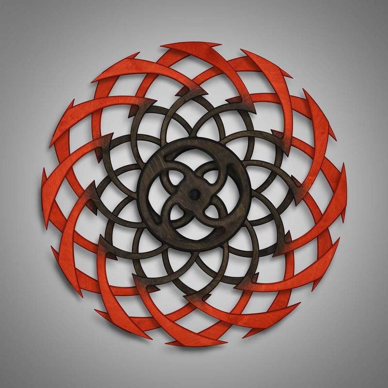 Kinetic Sculpture Ripple Outer Red by Ryan Kvande