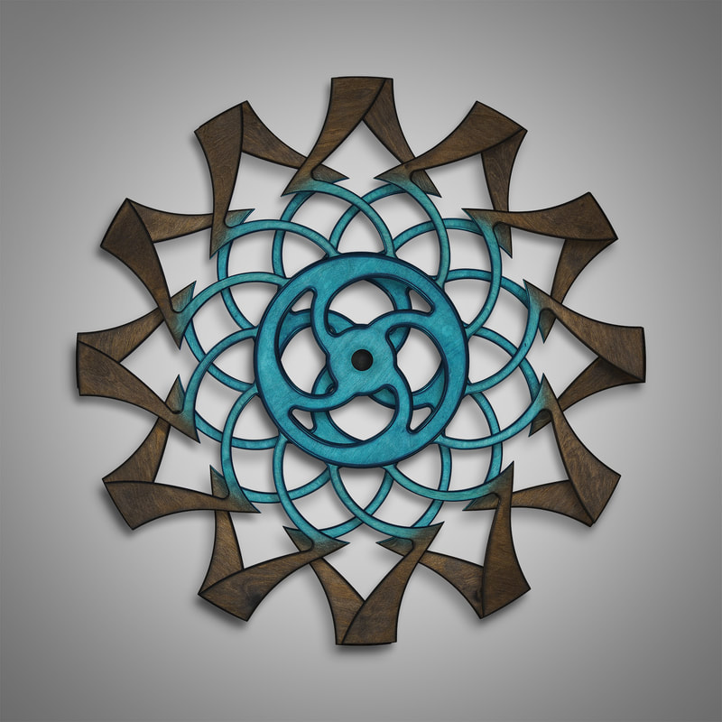 Kinetic Sculpture-Tranquil Inner Turquoise by Ryan Kvande
