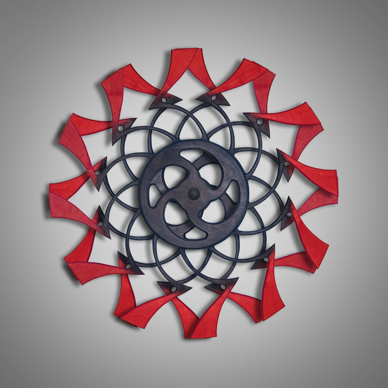 Kinetic Sculpture Tranquil Outer Red by Ryan Kvande