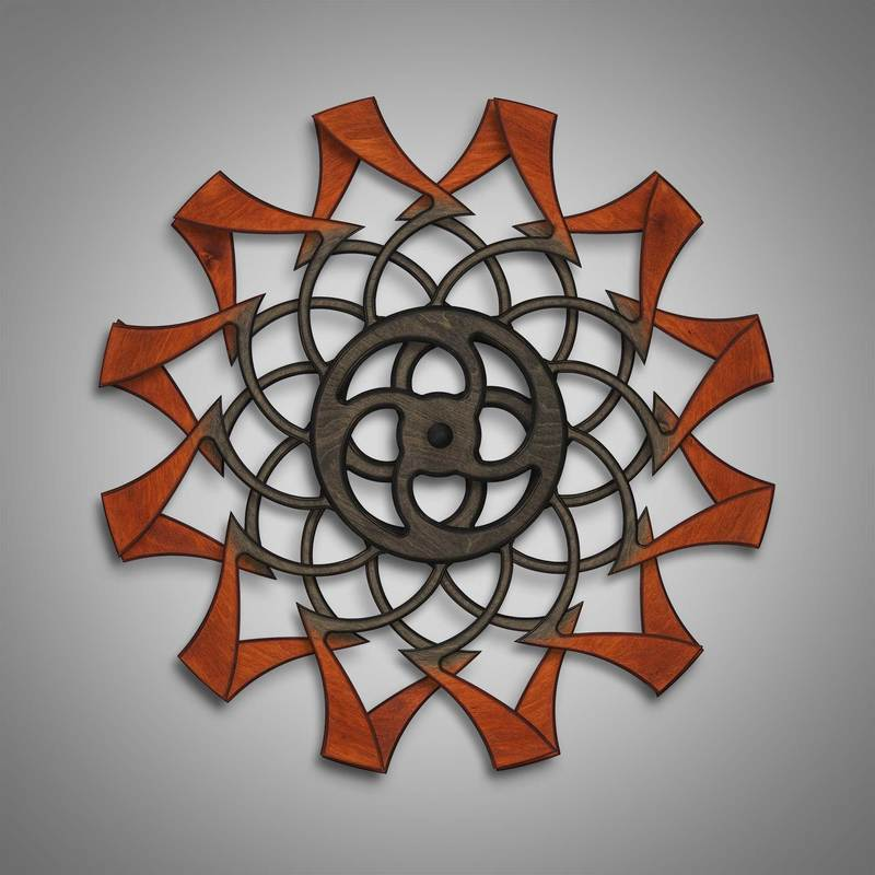 Kinetic Sculpture Tranquil Outer Rust by Ryan Kvande
