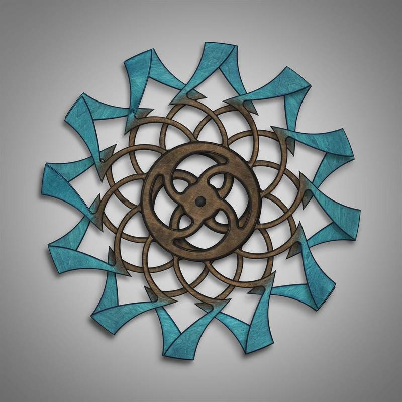 Kinetic Sculpture Tranquil Outer Turquoise by Ryan Kvande