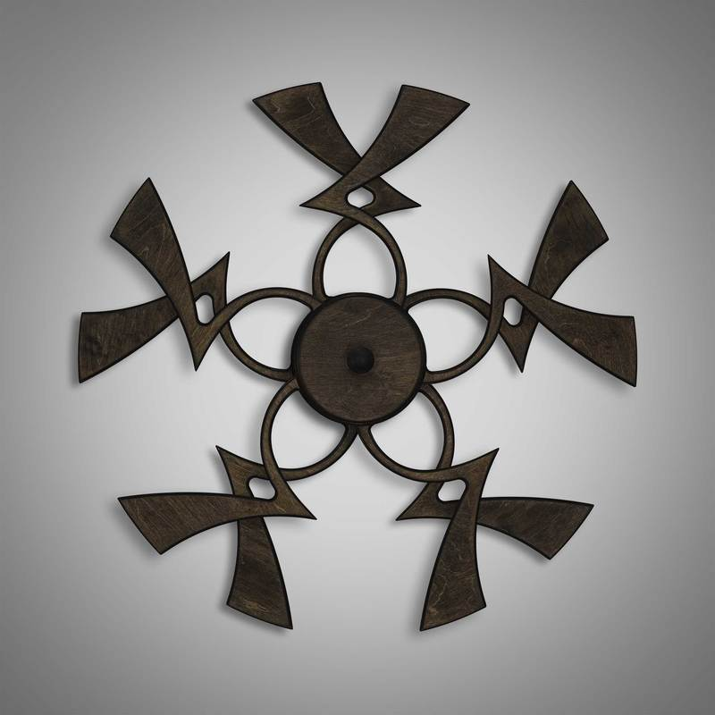 Kinetic Sculpture Twinkle Dark Brown by Ryan Kvande