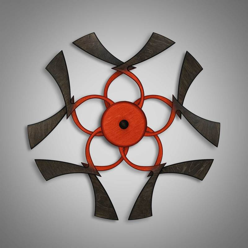 Kinetic Sculpture Twinkle Inner Red by Ryan Kvande